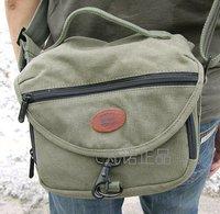 100% quality guarantee 7602 green 18oz canvas shoulder messenger bag waterproof canvas HOME camera bag