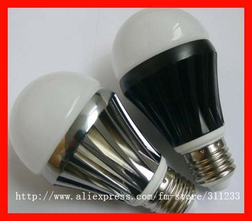 Dimmable 110v/220v Aluminum 5watt LED bulb light 2 years warranty(China (Mainland))