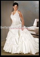 Hot Sale Free Shipping  A-line Satin Bridal Plus Size Wedding Dresses 2567