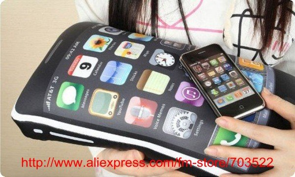 Freeshipping/New Newest cushion pillow for iphone fans/iphone toy (41*22*15cm) Drop shipping support(China (Mainland))