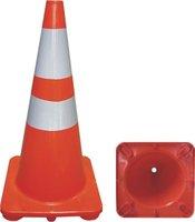 orange pvc road cone