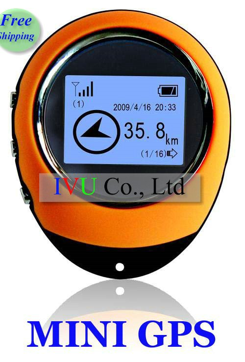 Freeshipping UPS DHL 5pcs Wholesale mini 1.5 inch MINI GPS portable GPS outdoors GPS Show longitude, latitude 2 colors IVU(China (Mainland))