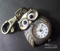 Owl pendant pocketwatch/retro sweaterchain pocketwatch/ keychain watches/with gifts box &Lanyard