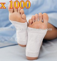 1000 pcs/lot New Detox Foot Pad Patch & Adhesive Sheets EMS Shipping