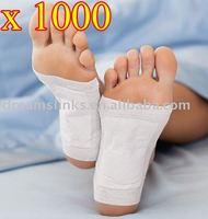 1000 pcs/lot New Detox Foot Pad Patch & Adhesive Sheets EMS Shipping