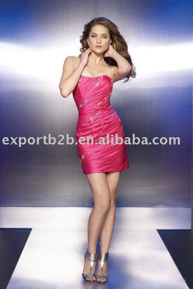 Inexpensive 2011 designer style sleeveless Slim cocktail party dress (bm11001)---Free EMS shipping