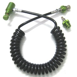 Wholesale Paintball stuff Coil Remote Hose with Slide Check (olive) paintgun marker parts(China (Mainland))