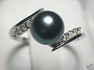 Beautiful Black Pearl Ring/Ringe Free Shipping(China (Mainland))