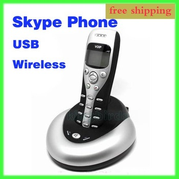 Free Shipping USB Wireless Skype Phone with LCD Screen PC Internet