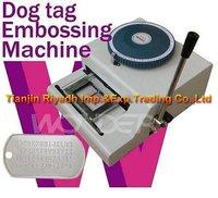 Guaranteed 100% new manual dog tag embossing machine 62D,metal tag embossing machine
