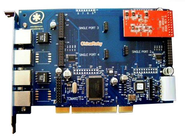 TDM410P Asterisk card with 1 FXS/FXO port,TDM400P(China (Mainland))