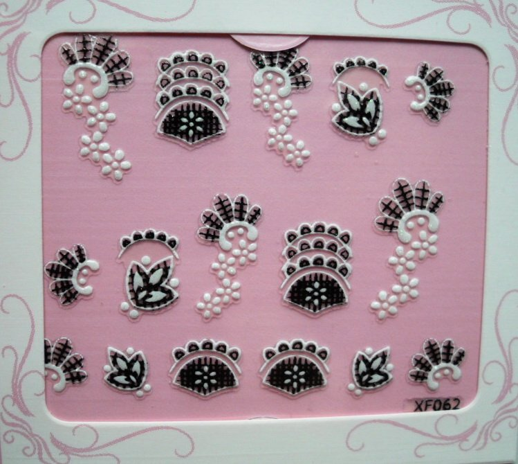 Free Shipping 100 pcs/Lot/Fast / Wholesales Price/Retail quantities/ hot sale/Nail Art 3D nail sticker 602-good gift(China (Mainland))