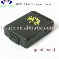 free shipping hot item quadband mini gifst for personal  old man  & woman  car gps tracker AVP031D