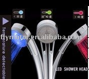hand shower / rainful shower head / led lighting shower /illuminated shower with Free shipping temperature detective LD8008-A9(China (Mainland))