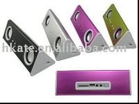 free shipping 13usd/unit electronic portable mini speaker support SD / Usb  zs002 for ipod iphone