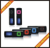Free shipping--2GB mp3, mp3 player, media player, mini mp3 player, portable mp3 player with back light