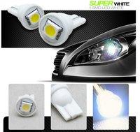 XENON WHITE T10 CAR LED LAMP LIGHT SMD LED WEDGE BULBS 168 2825 921 W5W #1 2pcs