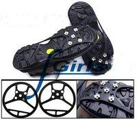 Black Anti Slip Pad Ground Grips SHOE TREADS,Ice/Snow Crampons Cleats Shoes Grip,non slip ice treads,50pcs/lot