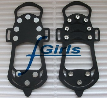 Black Anti Slip Pad Ground Grips SHOE TREADS,Ice/Snow Crampons Cleats Shoes Grip,non slip ice treads(NO.C) ,100pcs/lot