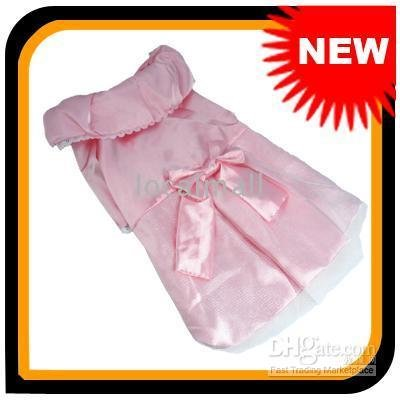 New Cute Pink Dog Apparel Pet Skirt Skirt Pup Pet Cloth SWEET 102487(China (Mainland))