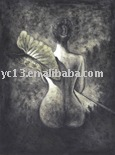 the most hot selling and free shipping nude oil painting(YL-5)(China (Mainland))