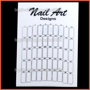 Free Shipping - Nail Art Display Board Stand Airbrush Display Board 50 Stick Practice NA062