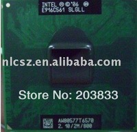 Free Shipping intel mobile processor cpu T6570 QKJT QS VERSION 2.1MHz 2M 800MHz  for laptop