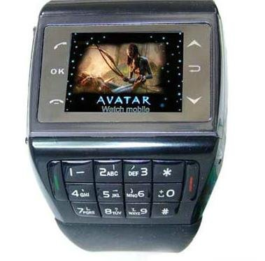 Free shipping-New+Unlocked Quad band cell phone Watch Mobile Phone touch screen AT&T T-mobile(China (Mainland))