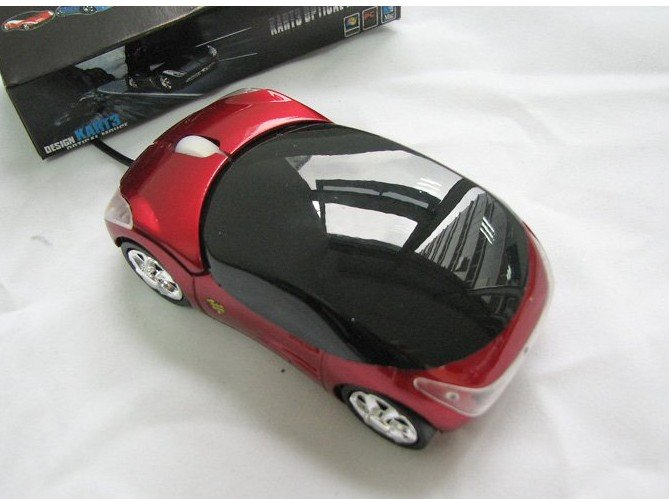 brand new USB Mini Car KART3 Optical Mouse Computer Laptop--Christmas Gift Novelty Toy(China (Mainland))
