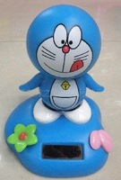 Solar swing toy solar doraemon cartoon for ornament,accept  ,free shipping