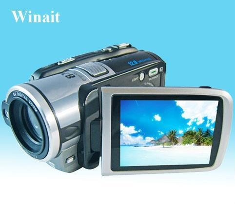 HOT SELLING-12 million pixels 3.0-inch LCD screen digital camera with 8x digital zoom silver or Black Free Shipping(China (Mainland))