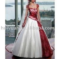Wedding dress 5417 Wholesale and retail white+wine