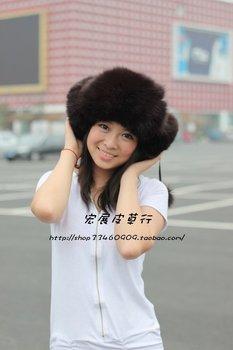 Free shipping 2010 /2011 winter style Cozy Fox Fur hat,warm cap waterproof flight hat