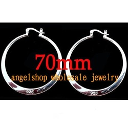 Wholesale 70mm hoop 925 sterling silver earrings,sterling sliver earrings,silver earring,free shipping , best selling(China (Mainland))