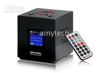 $10 off per $100 order Mini LCD Display Speaker BX-03 Remote Control FM Radio MP3 2GB Back Light New Snow Angel