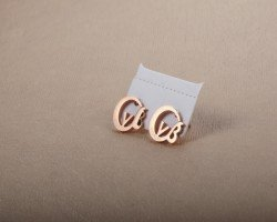 New listed,Wholesale - 18k solid gold earrings(China (Mainland))