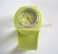 confortable silicone slap  watch