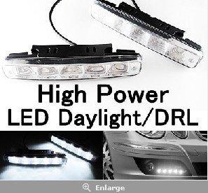 Free Shipping!! High Quality 5-LED Daytime Running Driving Lights VW GTi Golf MK6 100% BRAND NEW  bulbs