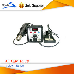 220V ATTEN AT8586 2in1 Hot Air SMD Rework Soldering Station Desoldering Station(China (Mainland))