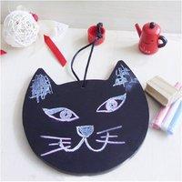 Wholesale --Free Shipping cute cat blackboard /messager board / can hanging wordpad / blackboard