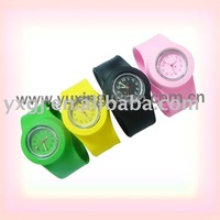 2011 colorful silicone slap  watches