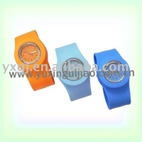 2011 comfortable silicone slap  watches