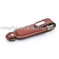 Free shipping(100pcs) 4GB guaranteed full capacity leather USB driver