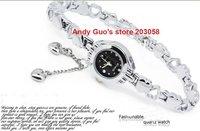 Brand New KIMIO Elegant Titanium Alloy Bracelet Watches With Heart Shape Pendants Women's Various Color Free shipping 5pcs/lot