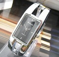 Free ship fee Massive black stainless steel luxury jewelry bangle women Wrist Watch K97