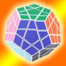 Free Shipping QJ 12-Color Polygonal Magic Intelligence Test Cube White(China (Mainland))
