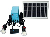 solar lighting system  7-8 hours lighting time and with USB charge mobile