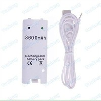 5 pcs / fast shipping for Charger USB+Battery 3600mAh for Wii Remote Controller