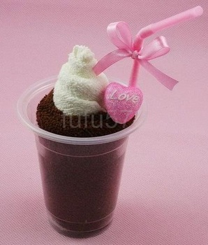 50% OFF DISCOUNT+FREE SHIPPING! ICE CREAM towel cake for birthday / baby / Wedding gift / home decoration, towel crafts, cakes
