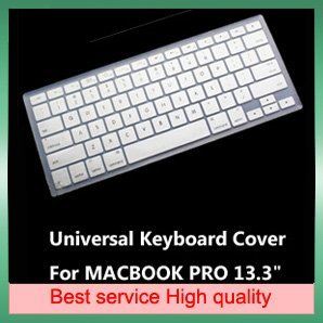 Wholesale Silicone Keyboard Skin Cover For Apple Mac Book Pro 13.3&quot;+ 10 Pcs/A Lot + Free Shipping(China (Mainland))